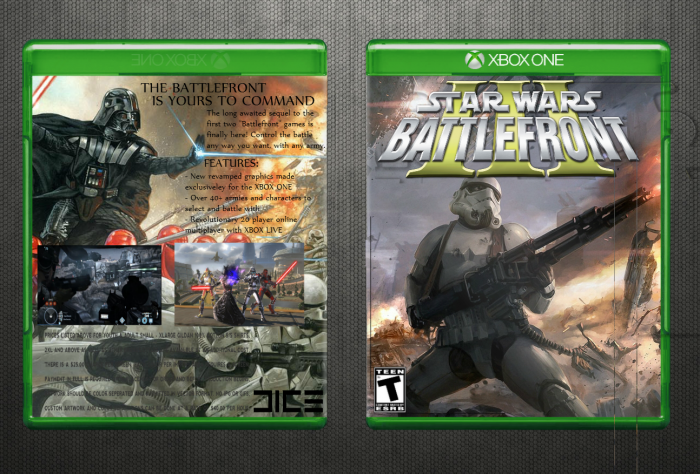 Star wars battlefront ii xbox 360 box art cover by hazzy25.