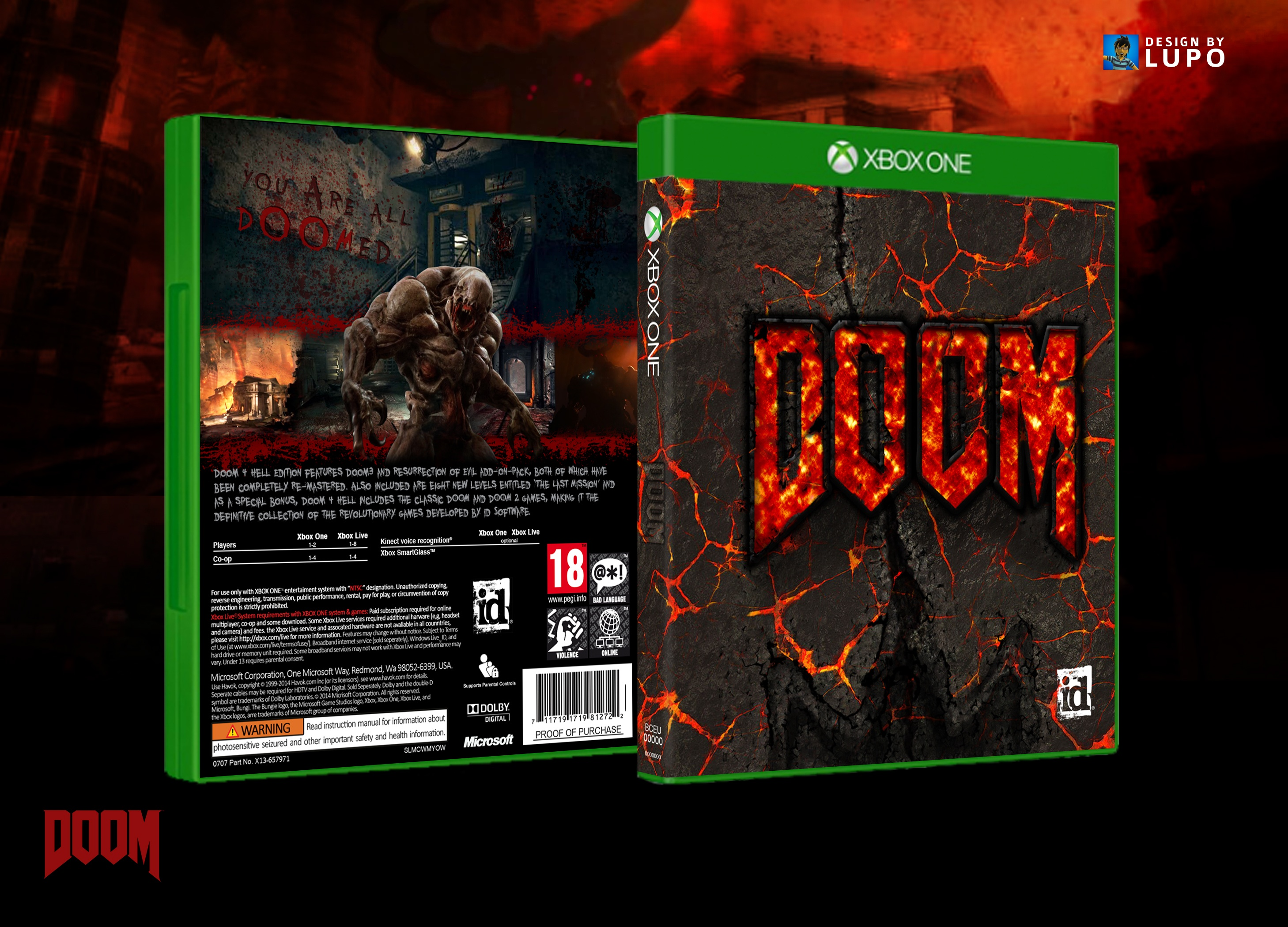 DOOM 4 box cover