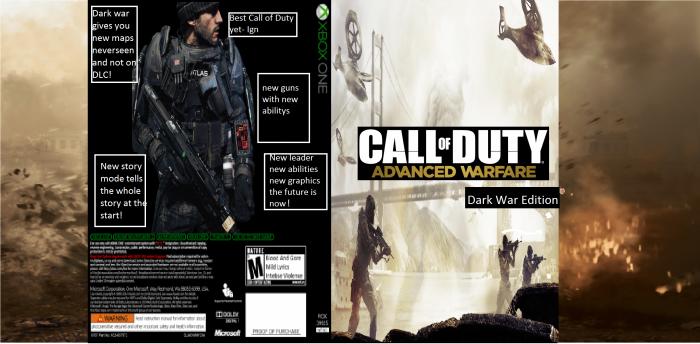Call of Duty - Advanced Warfare Xbox One Box Art Cover by ...