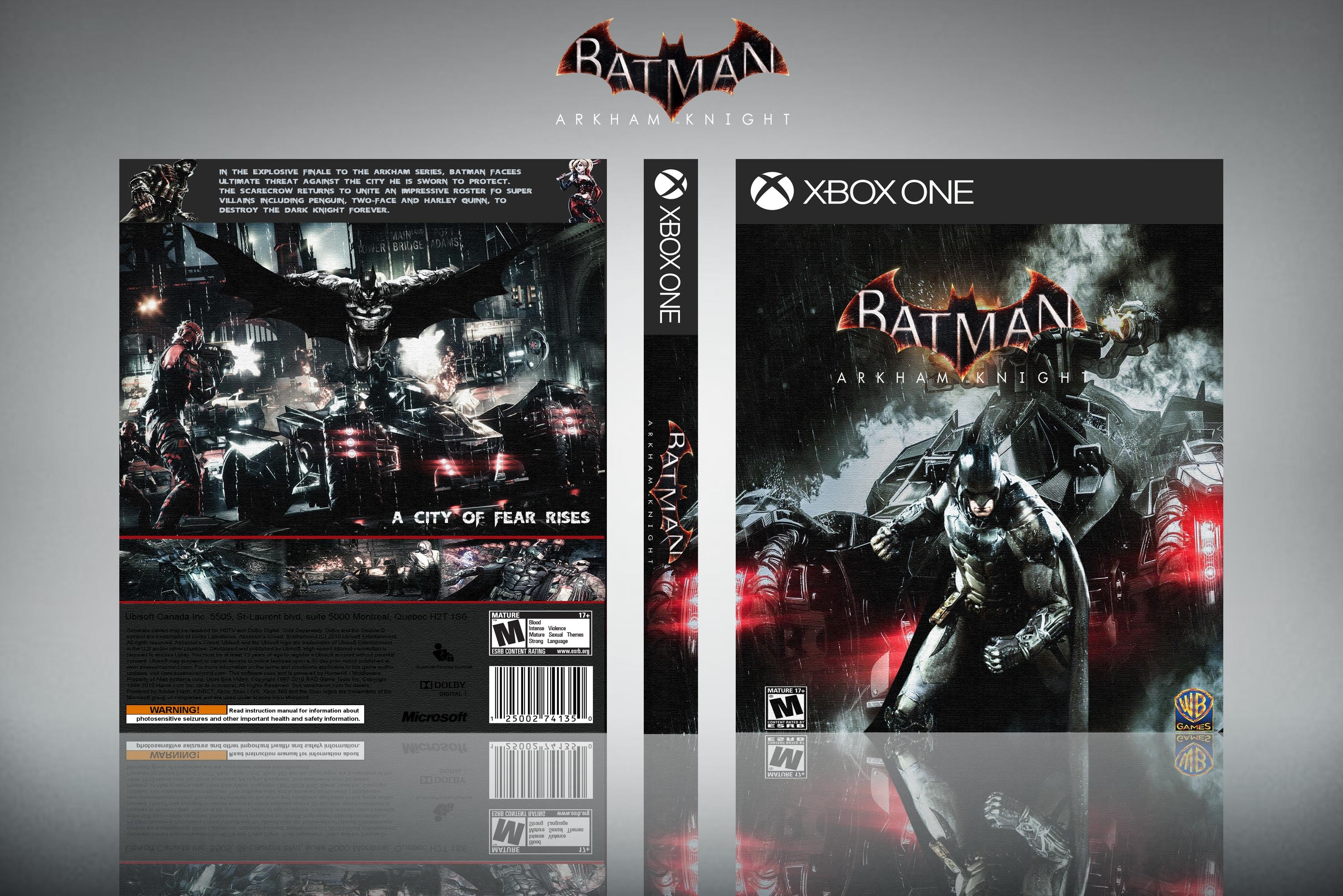 Batman Arkham Knight Xbox One Box Art Cover by edward91