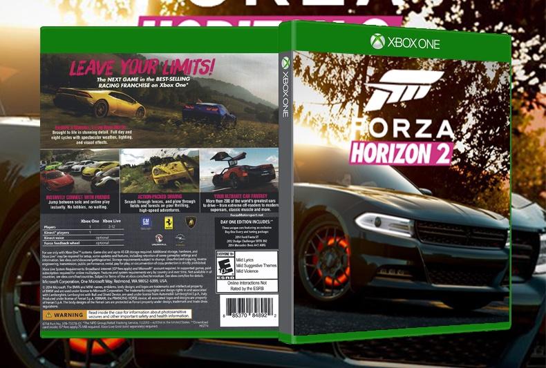 Viewing full size forza horizon 2 box cover for 2 box auto indipendenti
