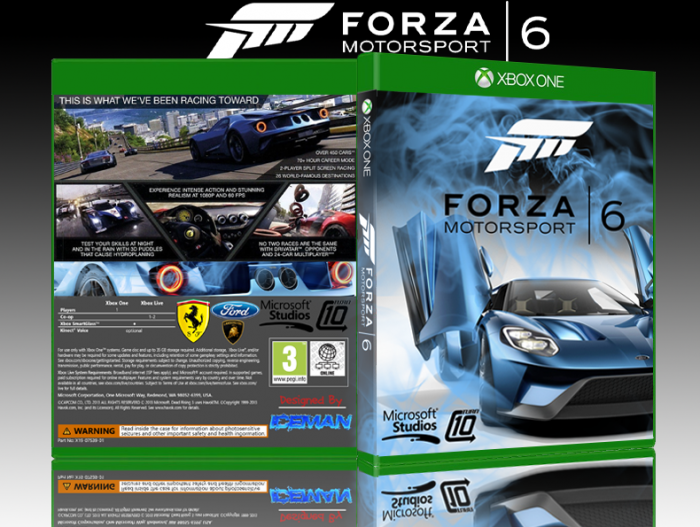 Forza 6 Xbox One Box Art Cover By Iceman423626