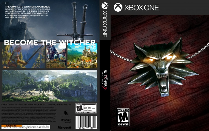 the witcher 3 wild hunt xbox one box art cover by bulbsy. Black Bedroom Furniture Sets. Home Design Ideas