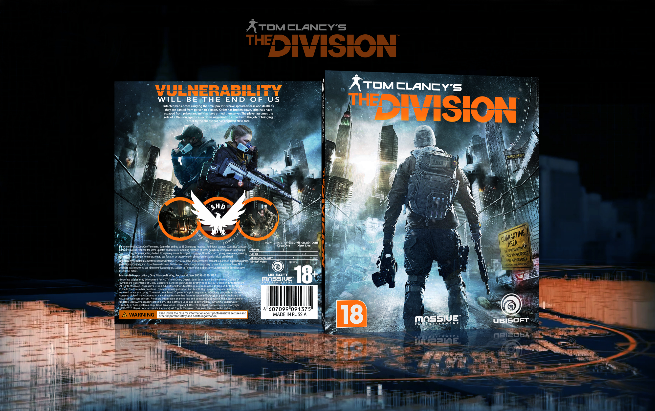Tom clancy s the ision xbox one box art cover by fergana16