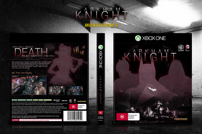Batman: Arkham Knight Xbox One Box Art Cover by Martiniii332