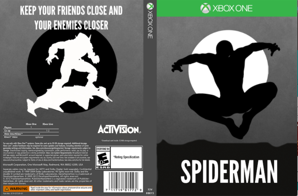 Spiderman box cover