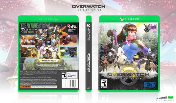 Book Cover Pictures Xbox : Overwatch xbox one box art cover by martiniii
