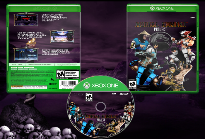 Mortal Kombat Project: XBox One Edition box art cover