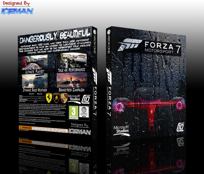 forza motorsport 7 xbox one box art cover by iceman423626. Black Bedroom Furniture Sets. Home Design Ideas