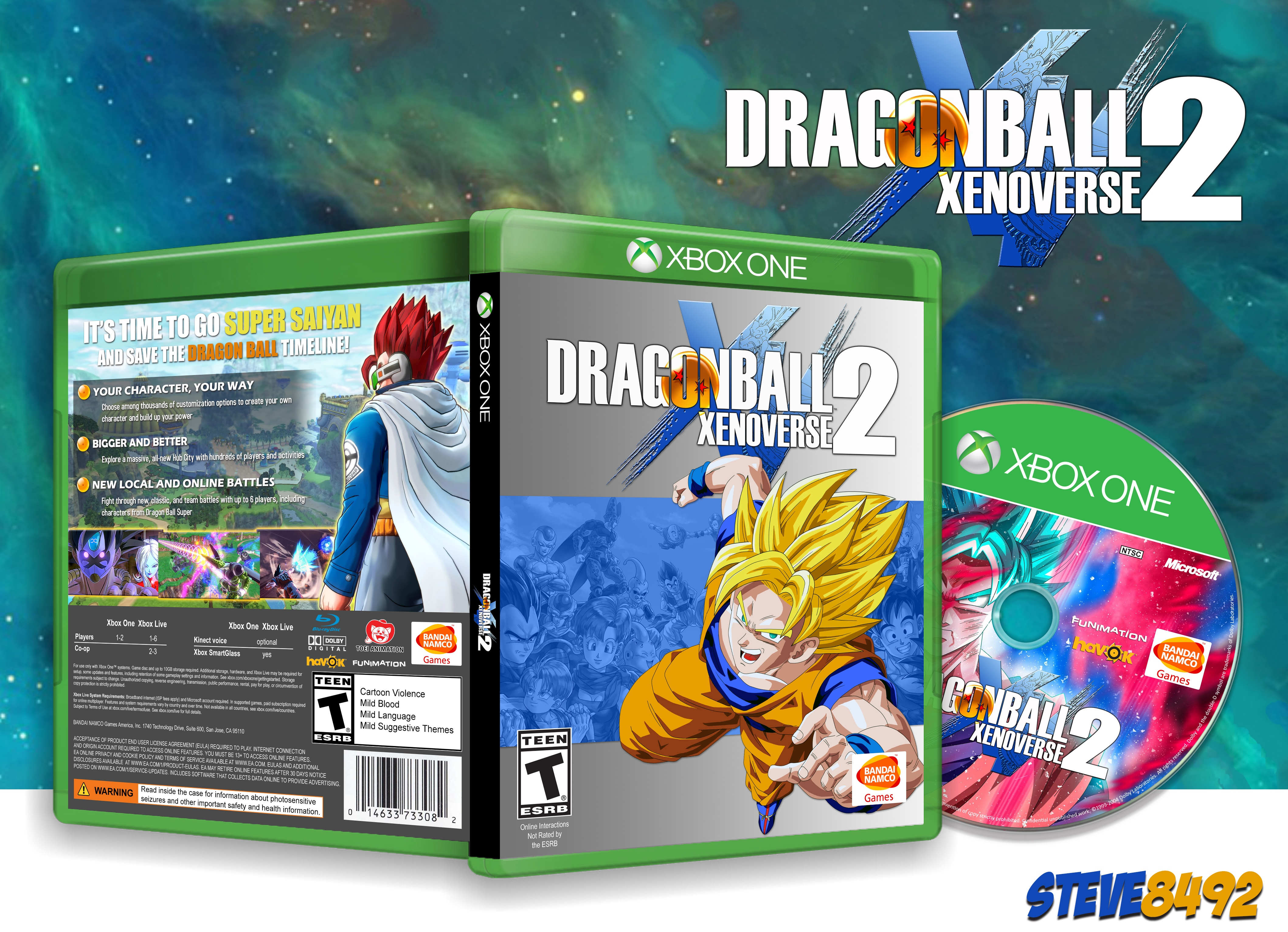 Dragon Ball Xenoverse 2 box cover