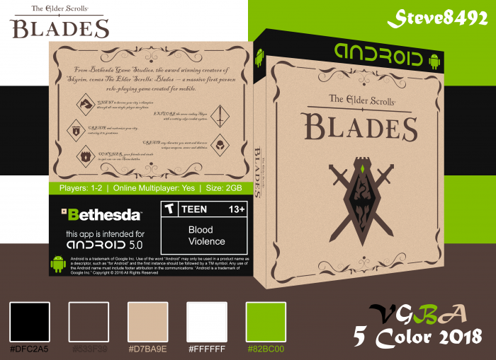 The Elder Scrolls: Blades box art cover