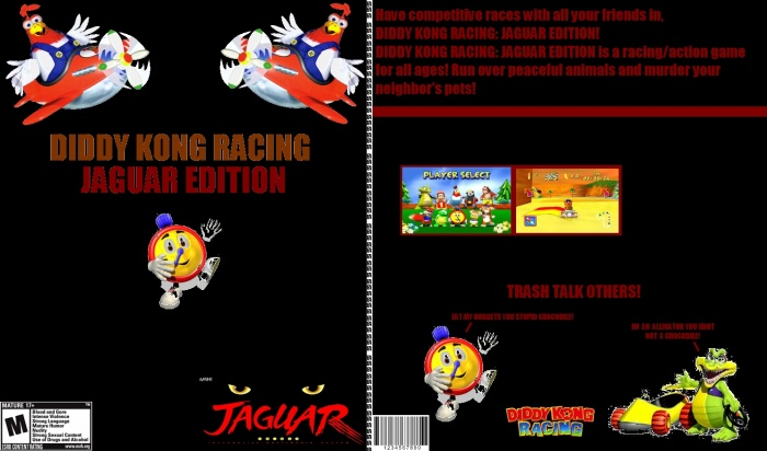 Diddy Kong Racing Jaguar Edition Atari Box Art Cover By Weammy The 3rd