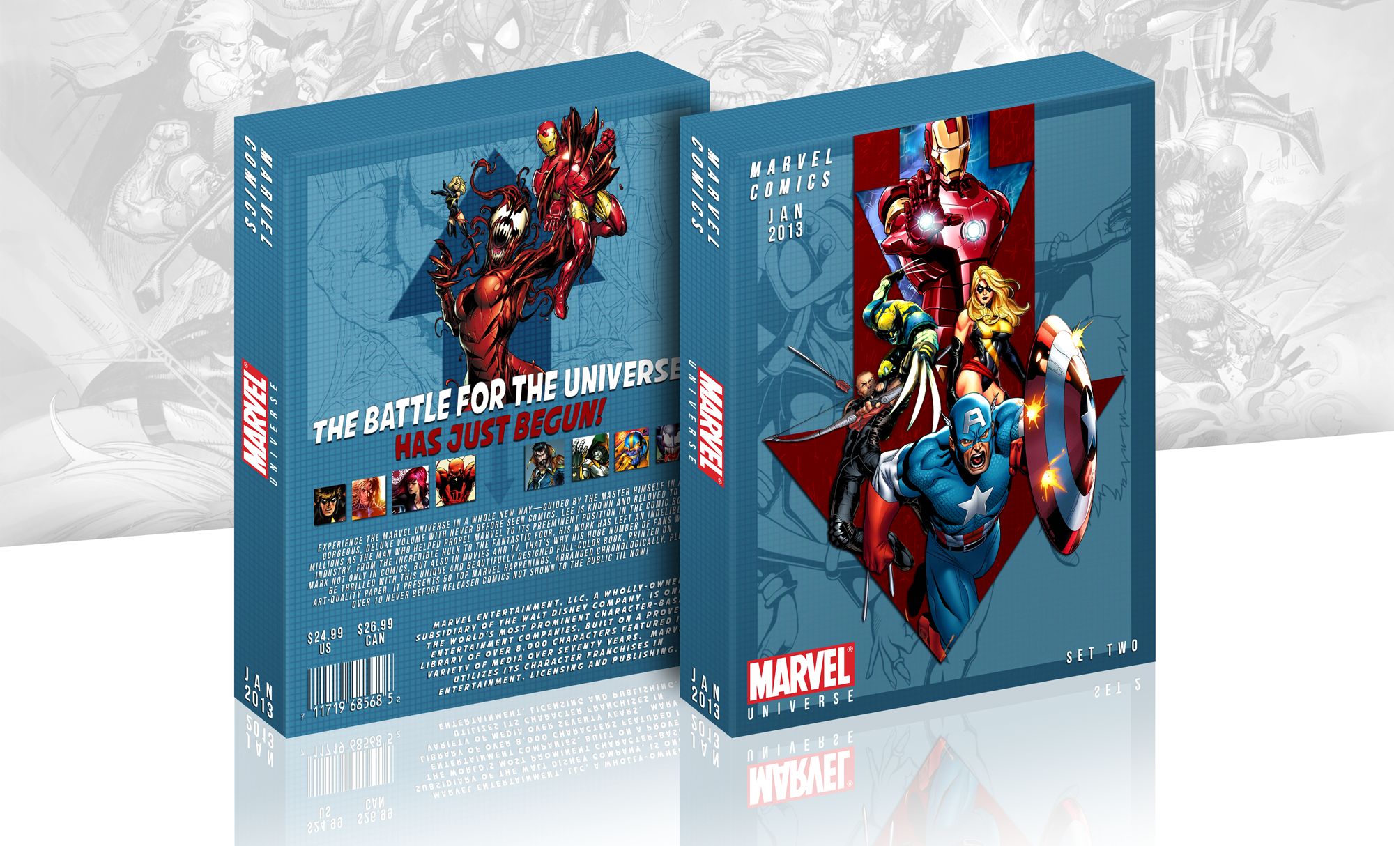 Marvel Universe Comic: Set Two box cover