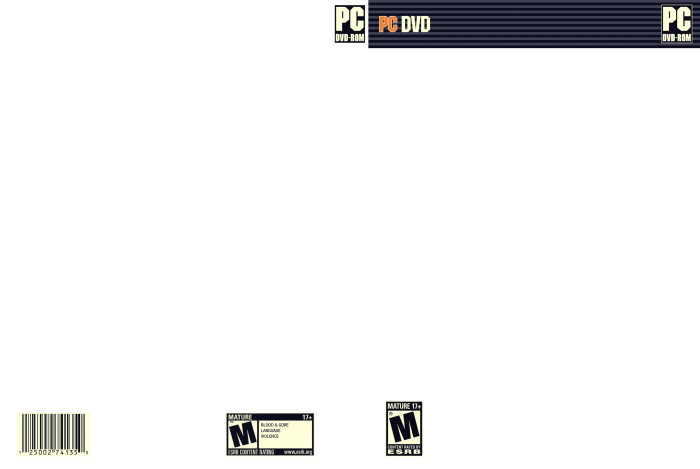 video game cover template - pc 3d box template