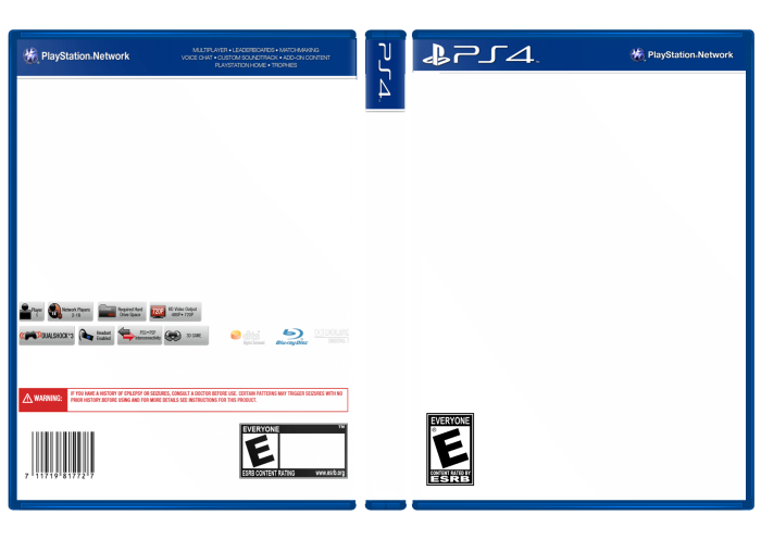 playstation 4 template