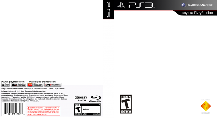 Playstation 3 template for Video game cover template