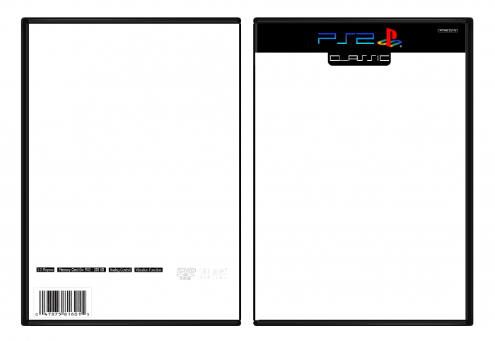 Playstation 2 classic template for Video game cover template