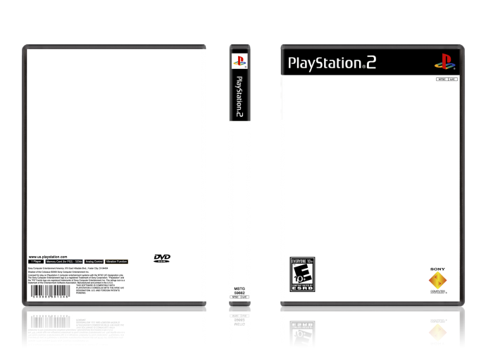 Playstation 2 template for Video game cover template