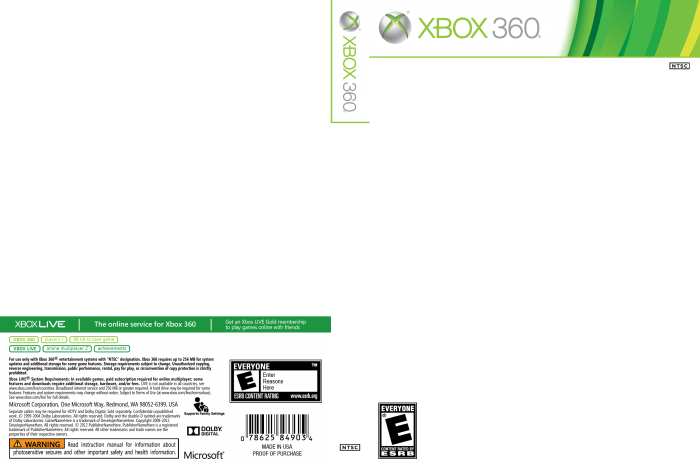 Template   187  Xbox 360 2013 TemplateXbox 360 Game Case 2013