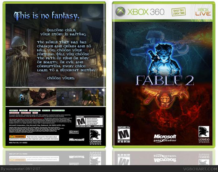 Fable 2 Xbox 360 Box Art Cover by susuwatari