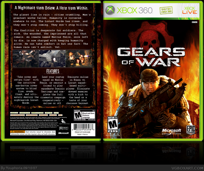 Gears of War Xbox 360 Box Art Cover by Youphoria