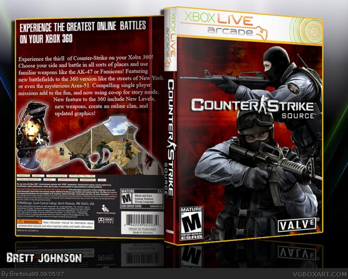 Counter Strike Source Xbox 360 Box Art Cover By Brettska99