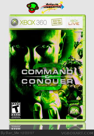 Command & Conquer 3: Tiberium Wars Xbox 360 Box Art Cover ... Xbox 360 Game Cover Template Print