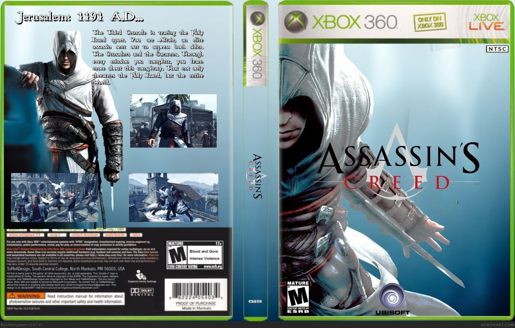 assassins creed xbox 360 box art cover by cheezypoofz