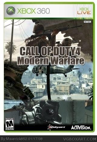 Call of Duty 4: Modern Warfare Xbox 360 Box Art Cover by ...