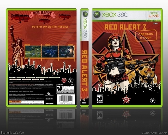 Command & Conquer: Red Alert 3 box art cover