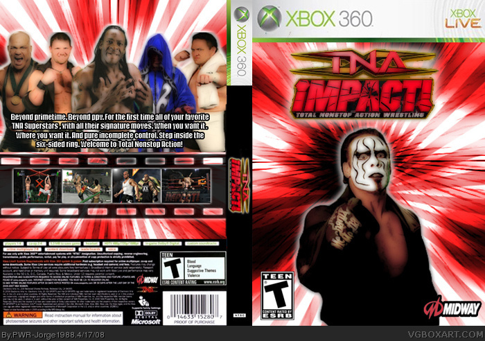 Tna Impact Xbox 360 Box Art Cover By Pwr Jorge1988