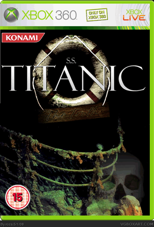 Book Cover Architecture Xbox One : S titanic the truth xbox box art cover by roza