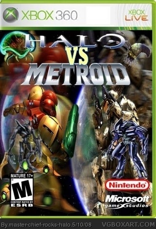 Halo Vs Metroid Xbox 360 Box Art Cover By Master Chief