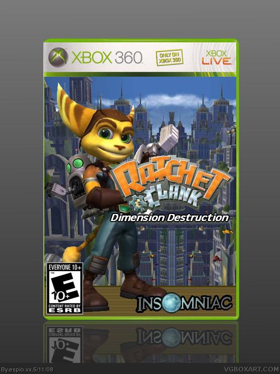Ratchet And Clank Dimension Destruction Xbox 360 Box Art