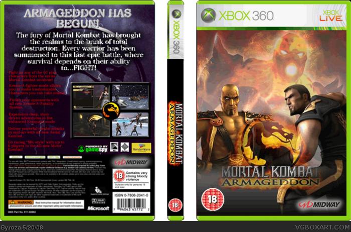 Mortal Kombat Armageddon (Xbox) Complete Game, Case, and