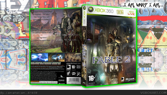 Fable 2 Xbox 360 Box Art Cover by    I am what I am