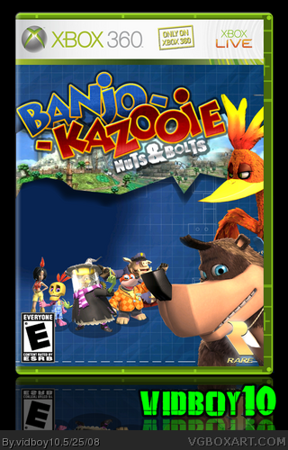 Banjo-Kazooie: Nuts & Bolts Xbox 360 Box Art Cover by vidboy10