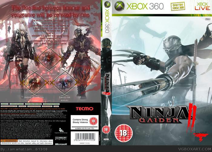 Ninja Gaiden 2 Xbox 360 Box Art Cover By    I Am What I Am