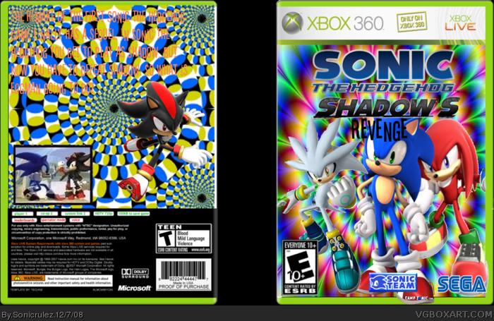 Sonic The Hedgehog Shadow S Revenge Xbox 360 Box Art Cover By Sonicrulez
