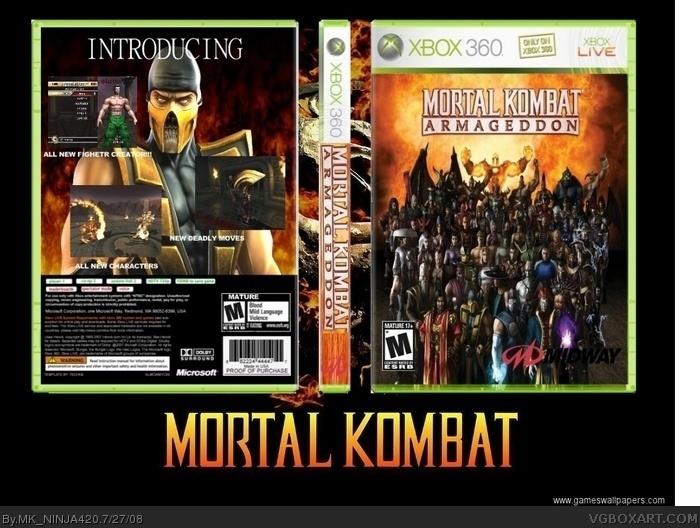 Mortal Kombat: Armageddon Xbox 360 Box Art Cover by MK
