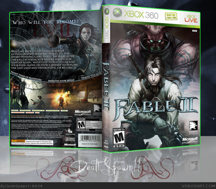 Fable 2 Xbox 360 Box Art Cover by DeathSpawn11