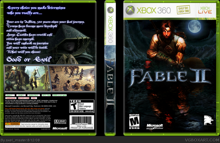 Fable 2 Xbox 360 Box Art Cover by axel_master