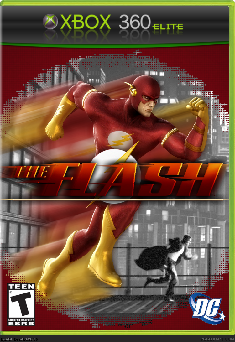 The Flash Xbox 360 Box Art Cover By Adhdmatt