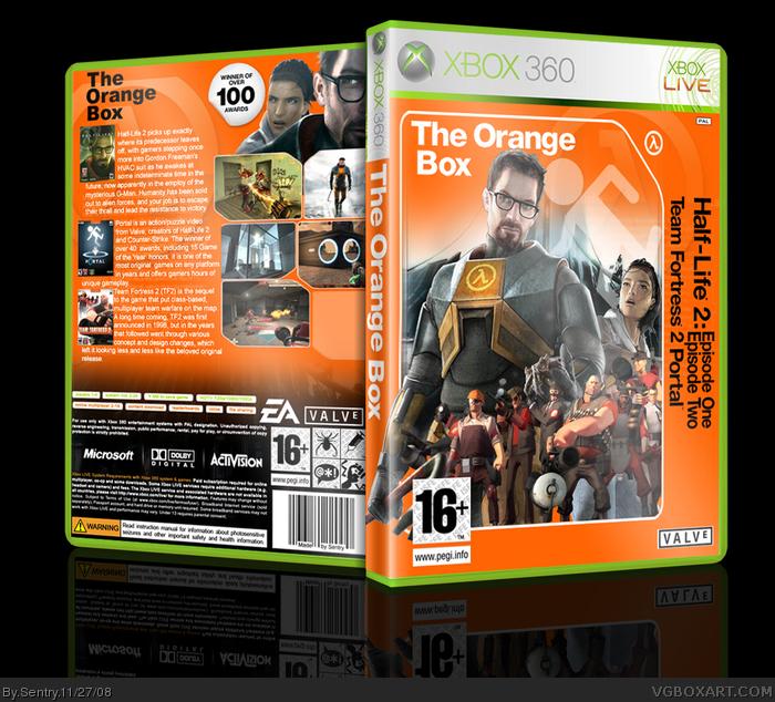 the orange box xbox 360 box art cover by sentry
