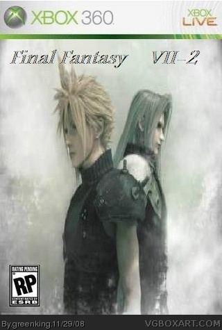 Final Fantasy VII-2 Xbox 360 Box Art Cover by greenking