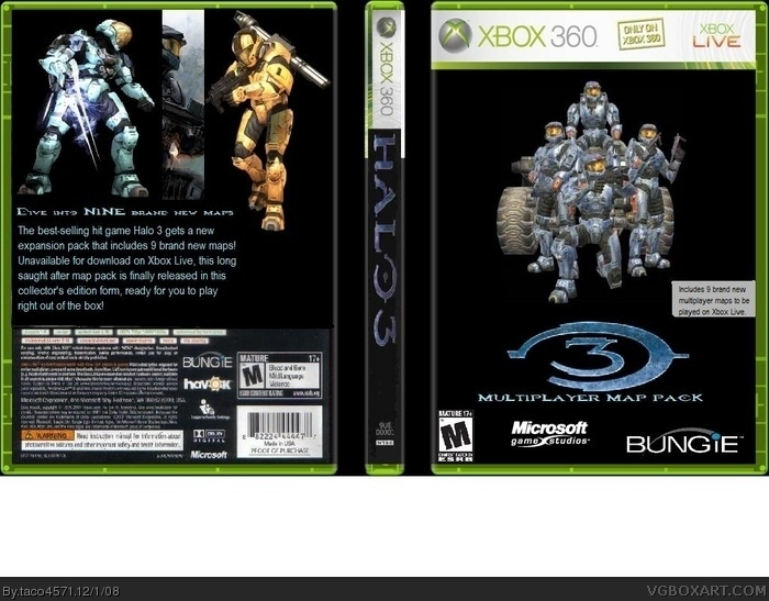 Halo 3 Multiplayer Map Pack Xbox 360 Box Art Cover by taco4571