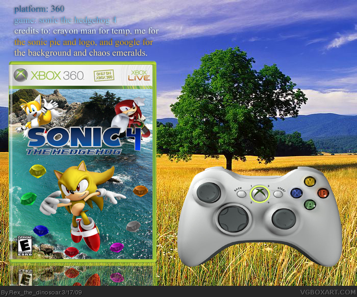 Sonic The Hedgehog 4 Xbox 360 Box Art Cover By Rex The Dinosoar