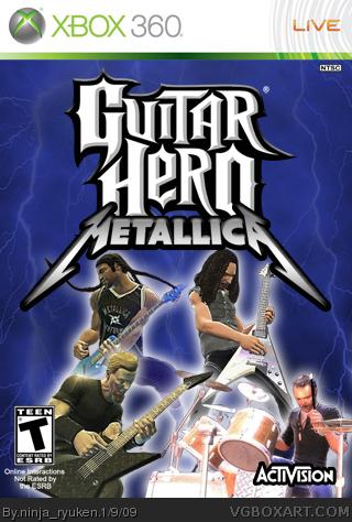 Guitar Hero Metallica Xbox 360 Box Art Cover by ninja_ryuken