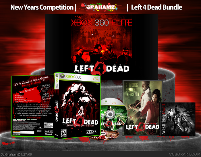Left 4 Dead Bundle Xbox 360 Box Art Cover by GrahamZ