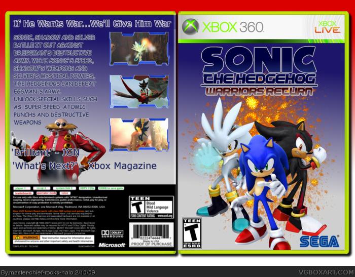 Sonic The Hedgehog Warriors Return Xbox 360 Box Art Cover By Master Chief Rocks Halo